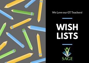 GC_SAGE Teacher Wish Lists